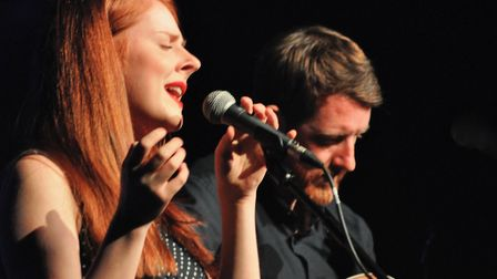 Hannah Rarity and Ewan Robertson at the Ham Marquee. Picture: Paul Strange