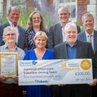 Members of Sidmouth Hospiscare's volunteer driving team won an award from Devon County Council. Pict