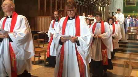 Sharon Humberstone was ordained as a priest in Coventry Cathedral. Picture: Becky Robson
