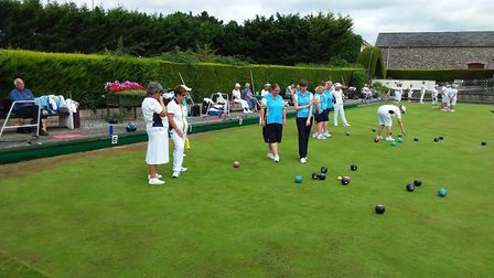 Sidmouth ladies at the InterClub finals that saw them beaten in the semi-finals. Picture: CAROL SMIT