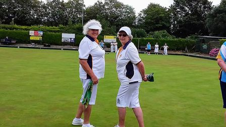 Two members of the Sidmouth ladies team that battled so valiantly at the InterClub finals. Picture;