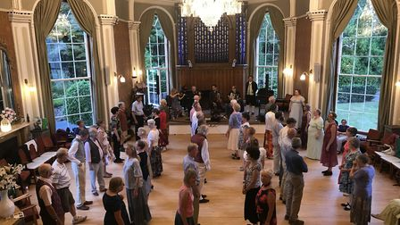 Dancers at the 18th-century Assembly Ball. Picture: Maria McCarthy