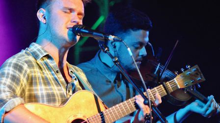 Sam Kelly (left) and Ciaran Algar at the Ham Marquee. Picture: Paul Strange