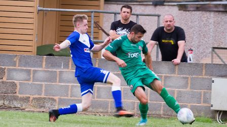 Sidmouth Town away at Exmouth for a pre-season friendly. Ref shsp 29 19TI 7472. Picture: Terry Ife