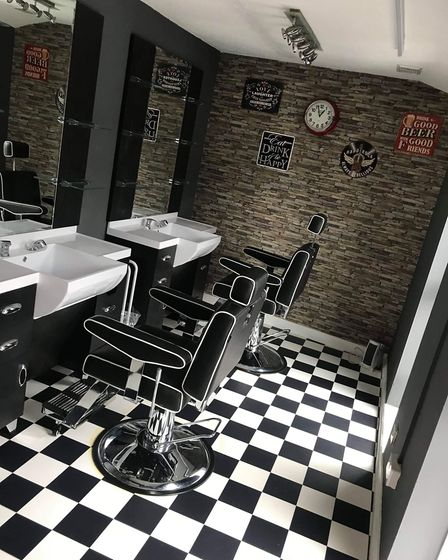 Inside Cutting Edge Hair Beauty and Barbers. Picture: Contributed