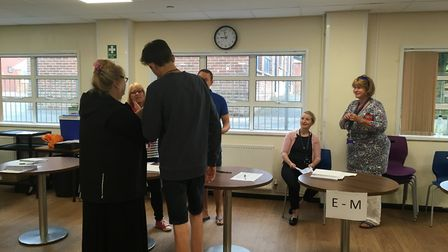Results day at The King's School in Ottery. Picture: Clarissa Place