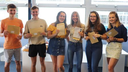Sidmouth College students celebrating their results. Picture: Sidmouth College