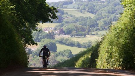 Cycling in East Devon. Ref mha 22 18TI 4910. Picture: Terry Ife