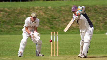 Rick Jackson batting for Ottery Ist away at Whimple. shsp 34 19TI 8440. Picture: Terry Ife