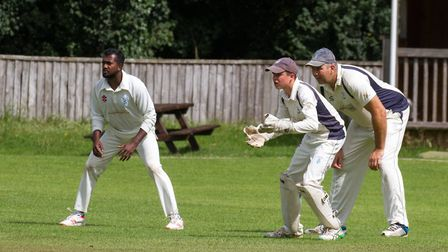 Eddie Rudolph keeping wicket for Ottery II's at home to Sidmouth III's. Ref shsp 34 19TI 8406. Pictu