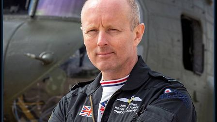 """Chinook Display Team Captain, Squadron Leader Jon """"JT"""" Turner will be part of the display team at Si"""