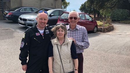 Jon Turner with his parents Carole and Jeff who live in Sidmouth. Picture: Jon Turner