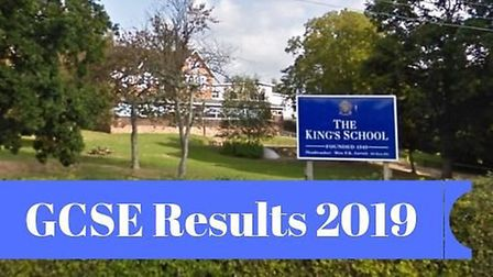 GCSE results day 2019 arrives at The King's School. Picture: Google Maps