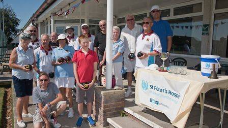 Nailsea and Congresbury Bowls Club holding a fun tournament in aid of St Peter's Hospice. Picture