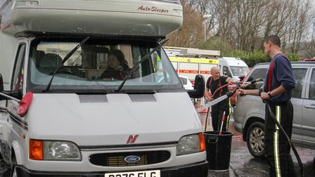 Car wash at Sidmouth fire station. Ref shs 11-16TI 2632. Picture: Terry Ife