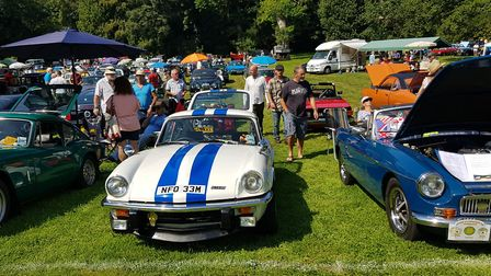 Vehicles on display at Chanters Carnival Classics. Picture: Ottery Carnival Committee