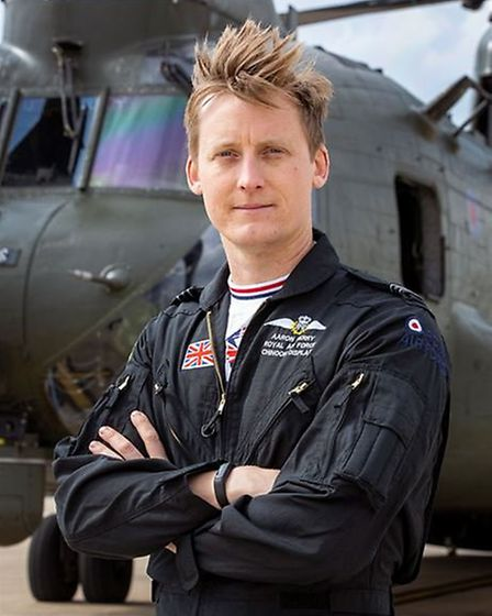 Chinook Display Team Co-Pilot: Flight Lieutenant Aaron Kerry will be part of the display team at Sid