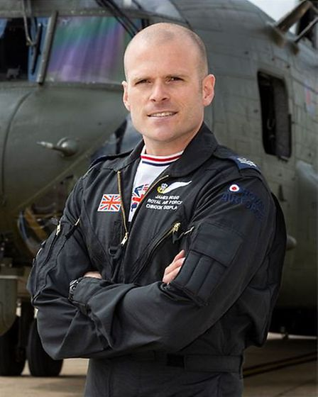 """Chinook Display Team Crewman: Sergeant James """"Beggsy"""" Begg. Picture: RAF Odiham"""