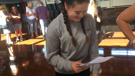 Alice Cuffley is chuffed with her GCSE results. Picture: Beth Sharp