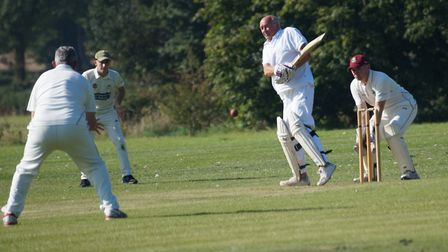 Malcom Buckland batting for Tipton in the meeting with Newton Poppleford. Picture: PHIL WRIGHT