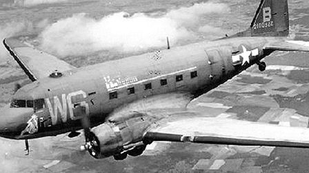 A photograph showing an identical C-47, that belonged to the same squadron, that was involved in the