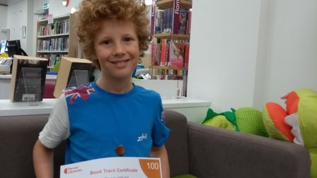 Ottery Library's latest book track recipient. Picture: Ottery Library