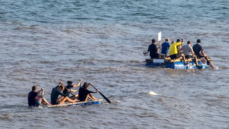 All Saints was the winning raft race team. Picture: Susan Cox