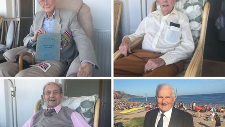 Veterans Fred Hill, David Stuart, Les Harlow and Alexander Fraser were all recognised during Sidmout