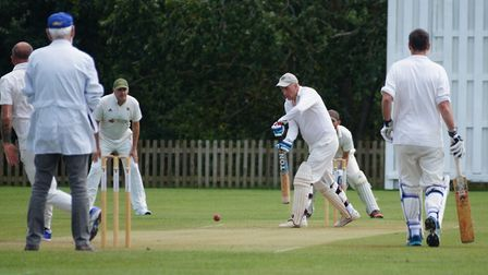Phil Tolley batting for Tipton during his unbeaten 125 in the game against Whimple. Picture: PHIL WR