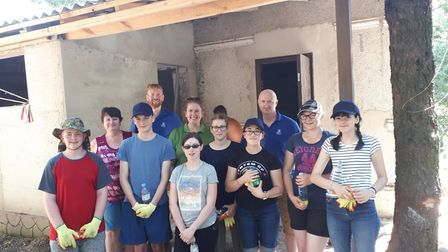 A group of seven youngsters went to Moldova with All Saints Church to help convert a derelict buildi