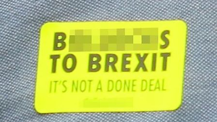 Bollocks to Brexit sticker. Picture: Archant