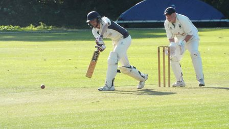 Dan Jeacock batting for Ottery St Mary 2nds during the win over Bradninch 2nds. Picture STEVE BIRLEY