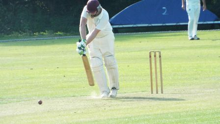 Dan Flower digs out a yorker during the Ottery St Mary 2nd XI win over Bradninch 2nds. Picture STEVE