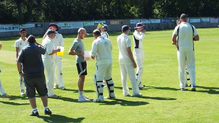 Drinks break on a hot sunny day. Picture STEVE BIRLEY