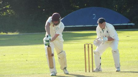 Dan Flower batting for Ottery St Mary 2nd XI at home to Bradninch 2nds. Picture STEVE BIRLEY