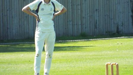 An Ottery St Mary 2nds fielder during the win over Bradninch 2nds. Picture STEVE BIRLEY