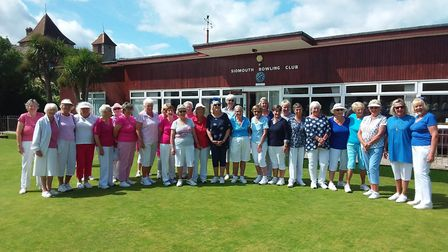 Captains Day Pink and Blue teams. Picture: Sidmouth Bowls Club