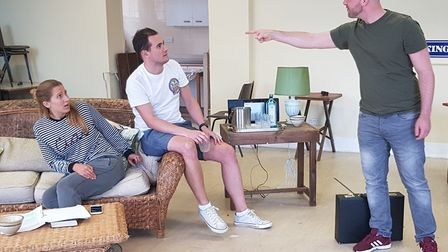 In rehearsal for Dangerous Obsession. Picture: Jonny Clines