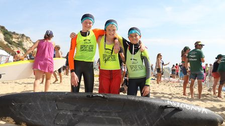 The Sidmouth Surf Life Saving Club's boys board team at the British Championships. Picture SIMON HOR