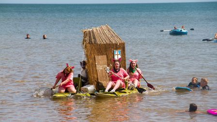 Beer regattas' raft competition. Ref shb 33 19TI 7812. Picture: Tery Ife