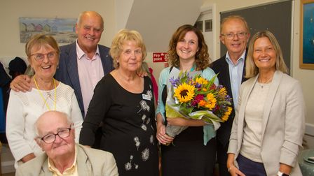 Heidi Crook, Sidmouth's Admiral Nurse at a leaving event during the memory cafe. Ref shs 37 19TI 976