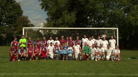 Family and friends of Matt Portman pulled on their football kits to raise money for Devon Air Ambula