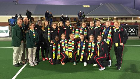 The Zimbabwe ladies team who bronze at the Africa Olympic Qualifying tournament held in Stellenbosch