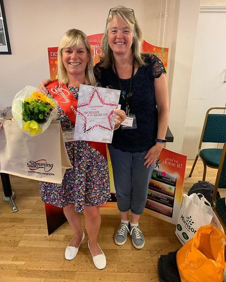 Debbie Leeds has been named the Sidmouth Slimming World groups 'Woman of the Year' 2019. Picture: Ha