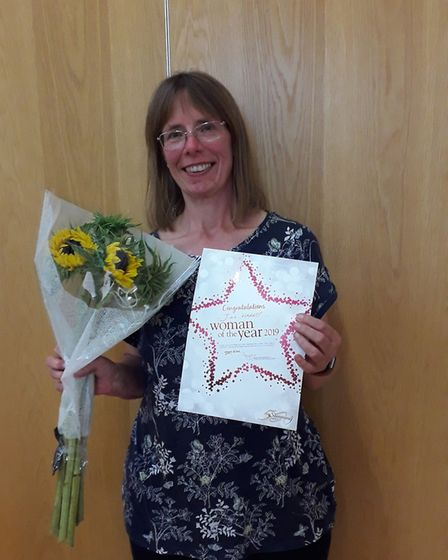 Jill Harrop has been named the Sidmouth Slimming World groups 'Woman of the Year' 2019. Picture: Har