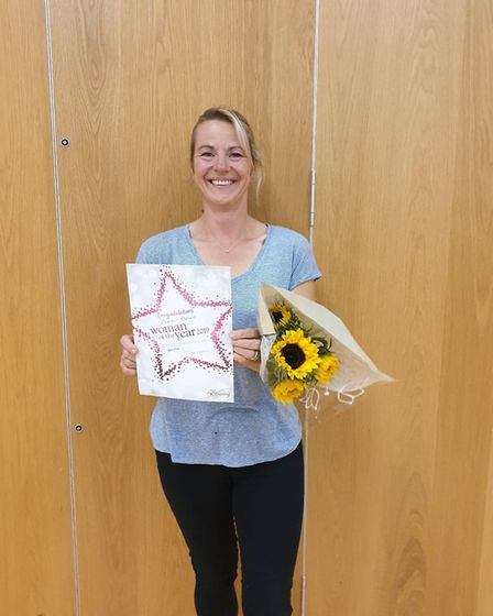 Sarah Green have been named the Sidmouth Slimming World groups 'Woman of the Year' 2019. Picture: Ha
