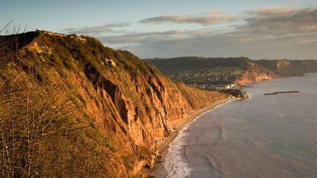 The red cliffs of High Peak and Salcombe Hill. Picture: Alex Walton