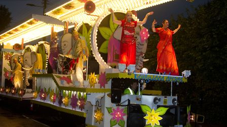 The Sidvale float at the Sidmouth Carnival. Ref shs 39 18TI 1846. Picture: Terry Ife