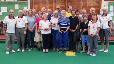 The U3A group together with Sidmouth Bowls Club coaches. Picture SIDMOUTH BOWLS CLUB