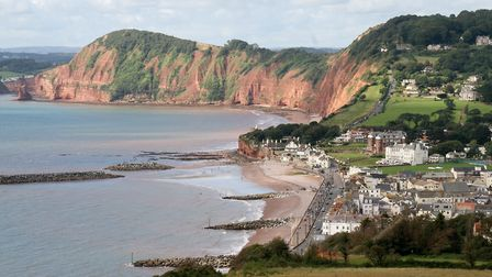 Sidmouth viewed from Salcombe Hill. Ref shs 8667-35-15SH. Picture: Simon Horn